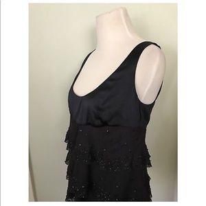 Diane von Furstenberg silk cami beaded Midnight